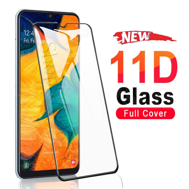 11D Tempered Glass For Samsung Galaxy A01 A11 A21 A31 A41 A51 A71 Screen Protector Glas M11 M21 M31 M51 A30 A50 Protective Glass