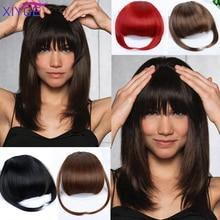 Fake Bangs False Hair Fringe Clip on Fringe Bangs Black Brown Blonde For Adult Women Synthetic Hair Accessories