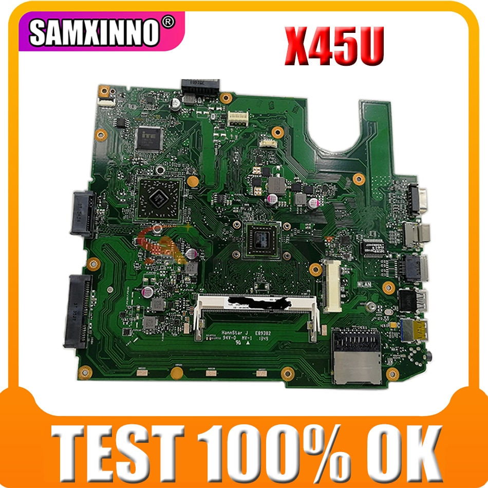 Akemy X45U لوحات أم _ bd. _ C60 2 كور CPU REV 2.1 لوحة أم للكمبيوتر المحمول ASUS X45U A45U