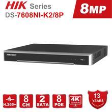 Hikvision-8/16 CH POE   POE NVR/8 P &/16P, connecteur et jeu intégrés, enregistreur vidéo 4K, 2 Interfaces SATA, 8 ports POE
