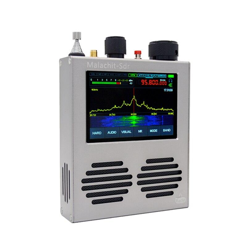 جهاز استقبال أصلي من Malahit-SDR بقدرة 50 كيلوهرتز-2 جيجاهرتز جهاز استقبال راديو DSP بشاشة لمس 3.5 بوصة + بطارية 5000 مللي أمبير في الساعة + هوائي AM SSB NFM WFM