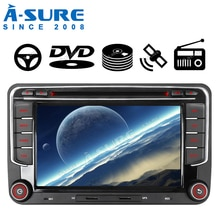 "Free Shipping 7"" 2 Din Stereo DVD Car Multimedia GPS Radio GPS Navigation for VW PASSAT B6 Skoda Seat Golf MK Tiguan Touran Polo"