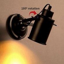 Lámpara de pared Vintage, candelabro de luz Industrial, enchufe con interruptor de botón, pared de luz Retro, iluminación de pasillo, sala de estar y dormitorio