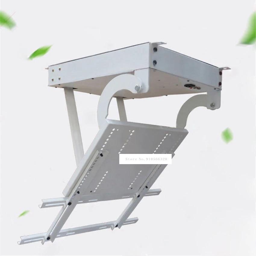 حامل سقف التلفزيون ، حامل تثبيت دوار للتلفزيون 43-55 بوصة ، تحديد المواقع الإلكترونية ، قابل للطي ، 110 فولت/220 فولت ، 20 واط