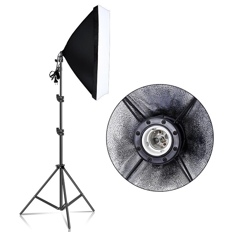 Fotografía 50x70CM Softbox Kits de iluminación Soft box para Flash sistema de luz continua para luz de estudio fotográfico Equipmen Equipment