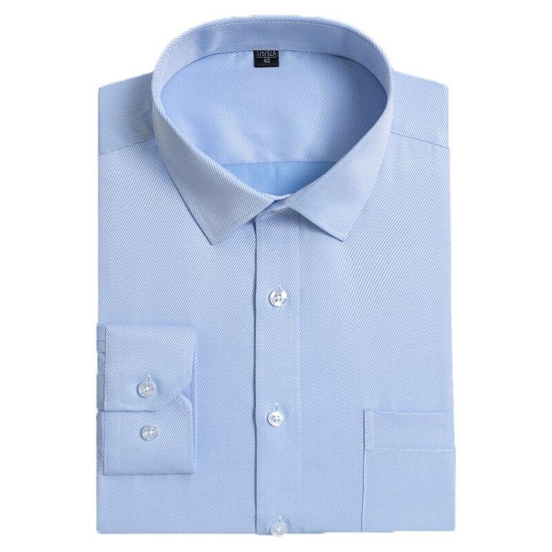 Camisas de vestir para hombre de talla grande 8xl de sarga Social de manga larga con cuello cuadrado, blusas formales ajustadas de negocios sólidas cómodas para hombre