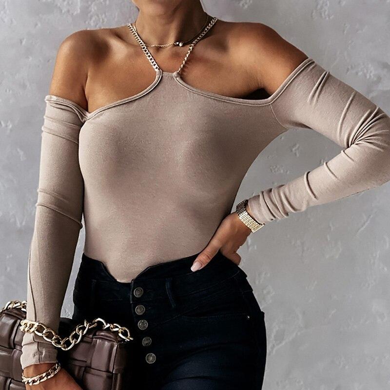 Женская ажурная блузка, Повседневная однотонная Облегающая рубашка с высоким воротником и длинным рукавом, осенний пуловер с вырезами и це...