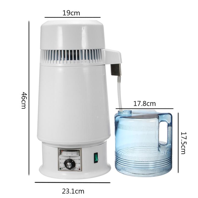 Adjust Temperature 4L Pure Water Distiller Filter Stainless Steel Water Distilled Machine Dental Distillation Purifier Equipment enlarge