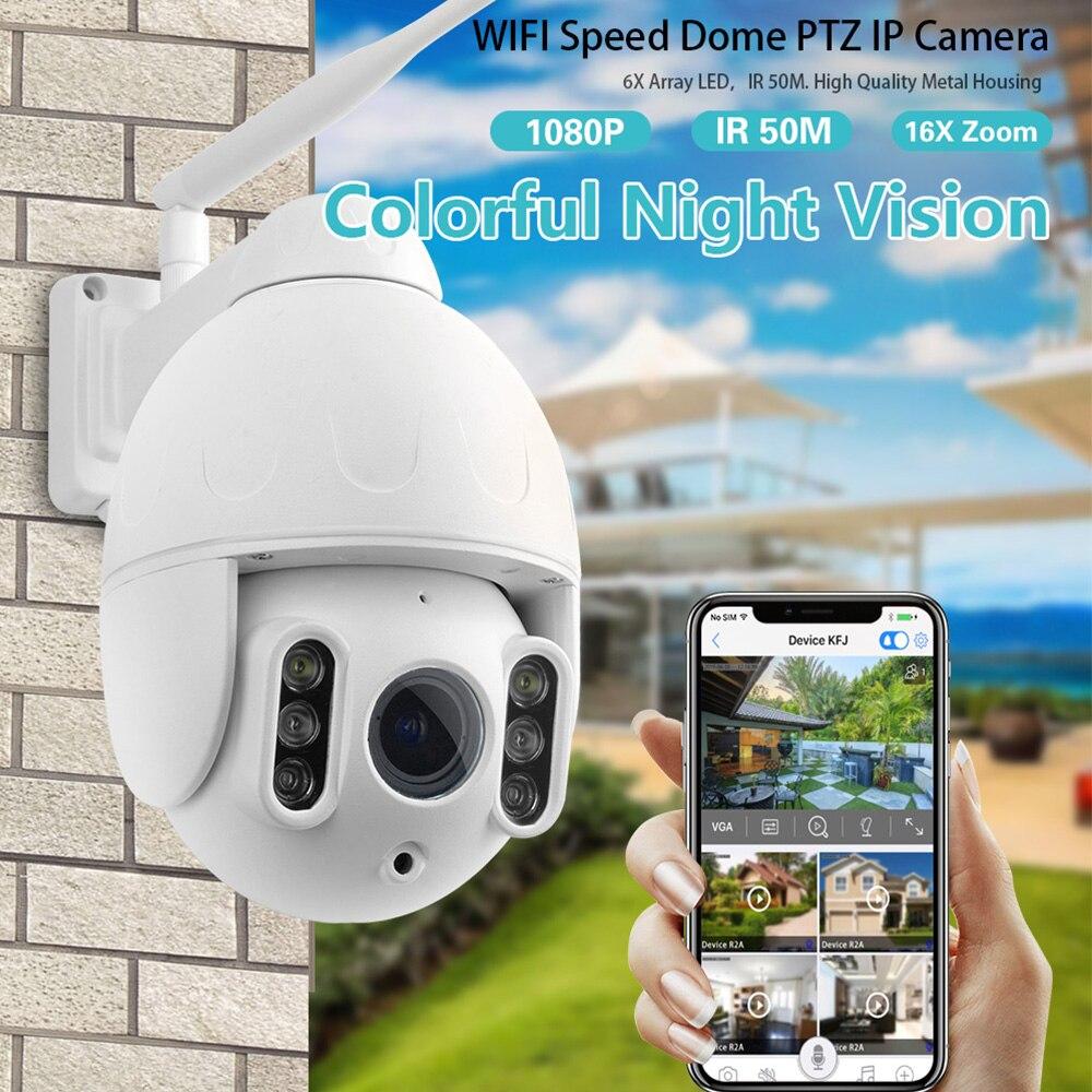 K64A 16X Zoom Wi-fi Câmera IP 1080P PTZ Face Rastreamento Automático De Detecção de Movimento Visão Nocturna do IR de Segurança À Prova D Água Ao Ar Livre câmera