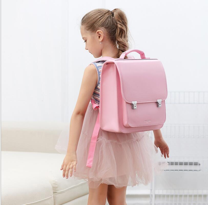حقيبة ظهر مدرسية يابانية لتقويم العظام للبنات ، حقيبة ظهر مدرسية من البولي يوريثان للأطفال