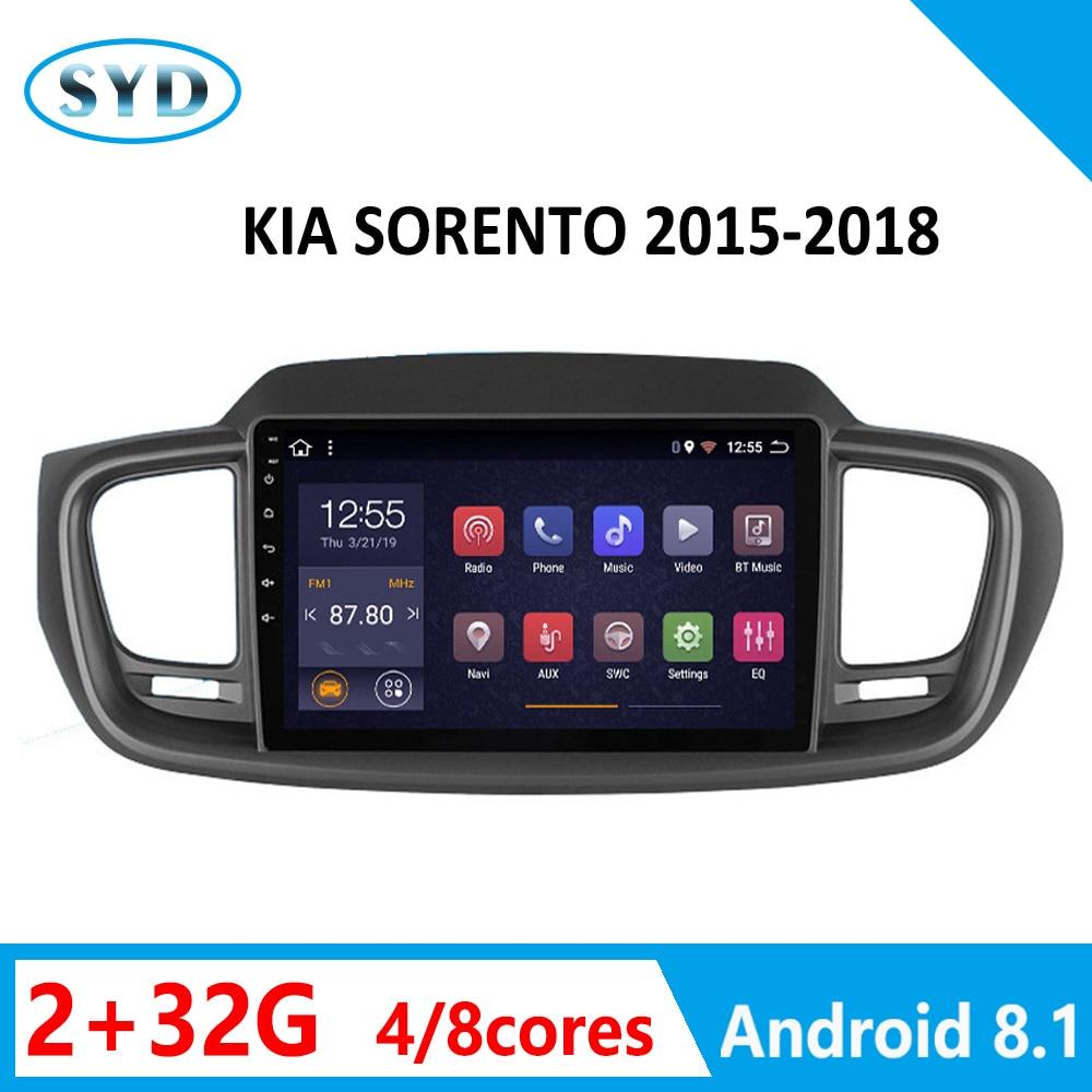 RAM2G radio del coche para Kia Sorento 2015, 2016, 2017, 2018 Multimedia reproductor de DVD 8 núcleos ROM32G compatibilidad con FM RDS DSP SWC WIFI Android 8,1