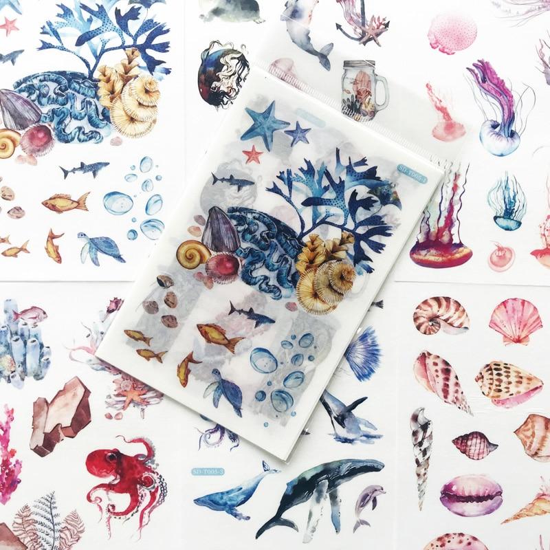pegatinas-de-fantasia-bajo-el-mar-para-ninos-artesanias-adhesivas-etiqueta-para-notebook-ordenador-telefono-bricolaje-regalo-papeleria-6-hojas-paquete
