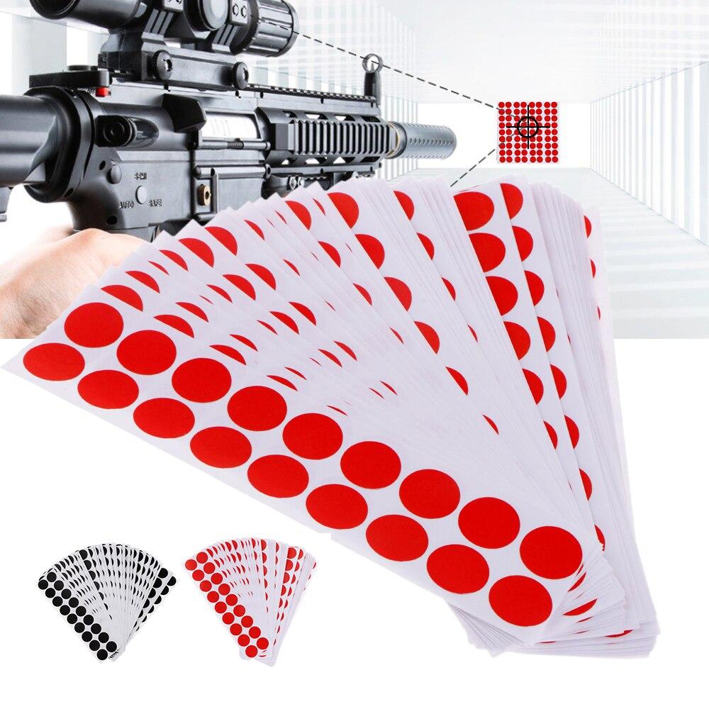 900 Uds autoadhesivo objetivo Paster Shooting Stickers papel de destino cubrir parches redondos Color negro/rojo 0,8