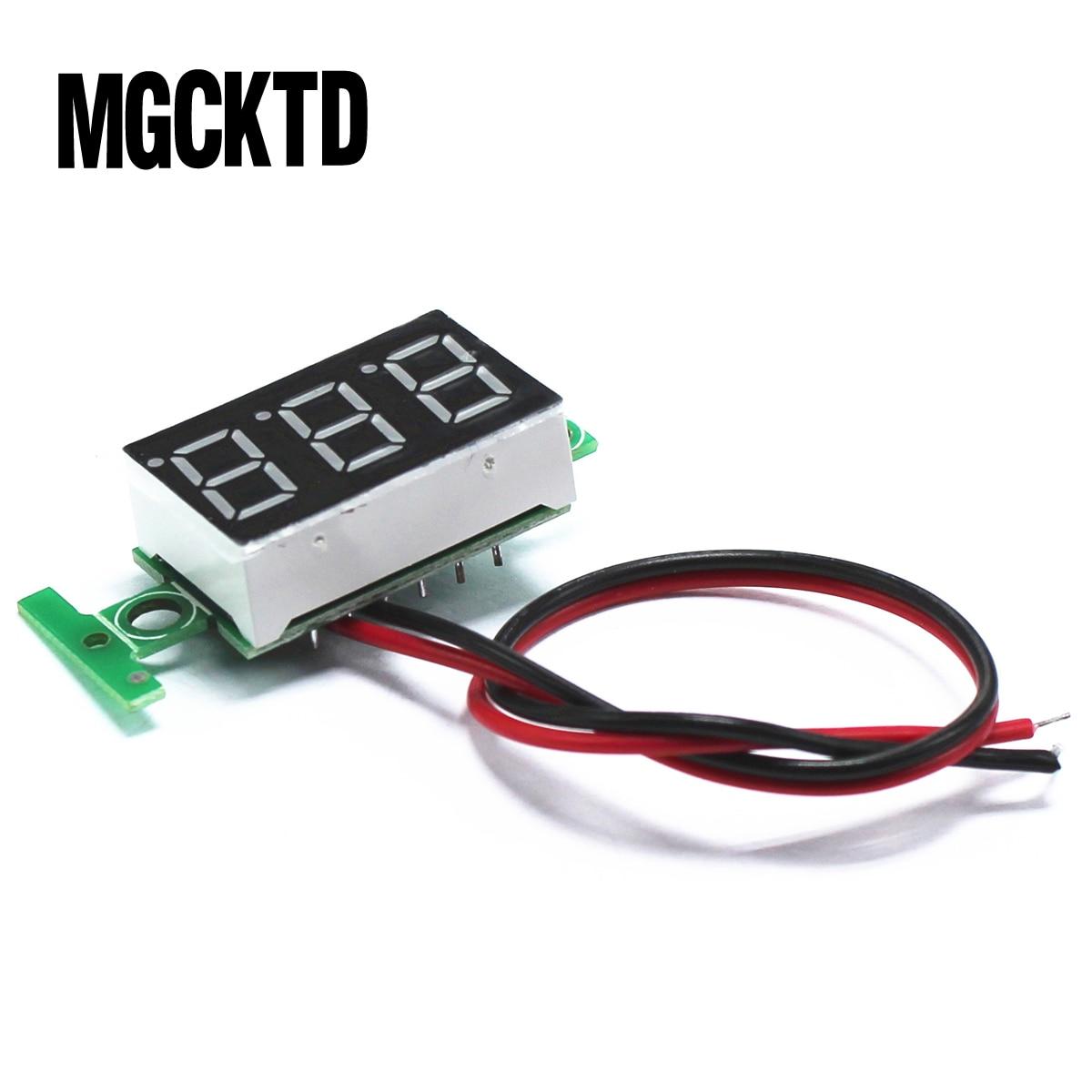 Verde segunda línea de precisión dc digital voltímetro cabeza LED digital voltímetro...