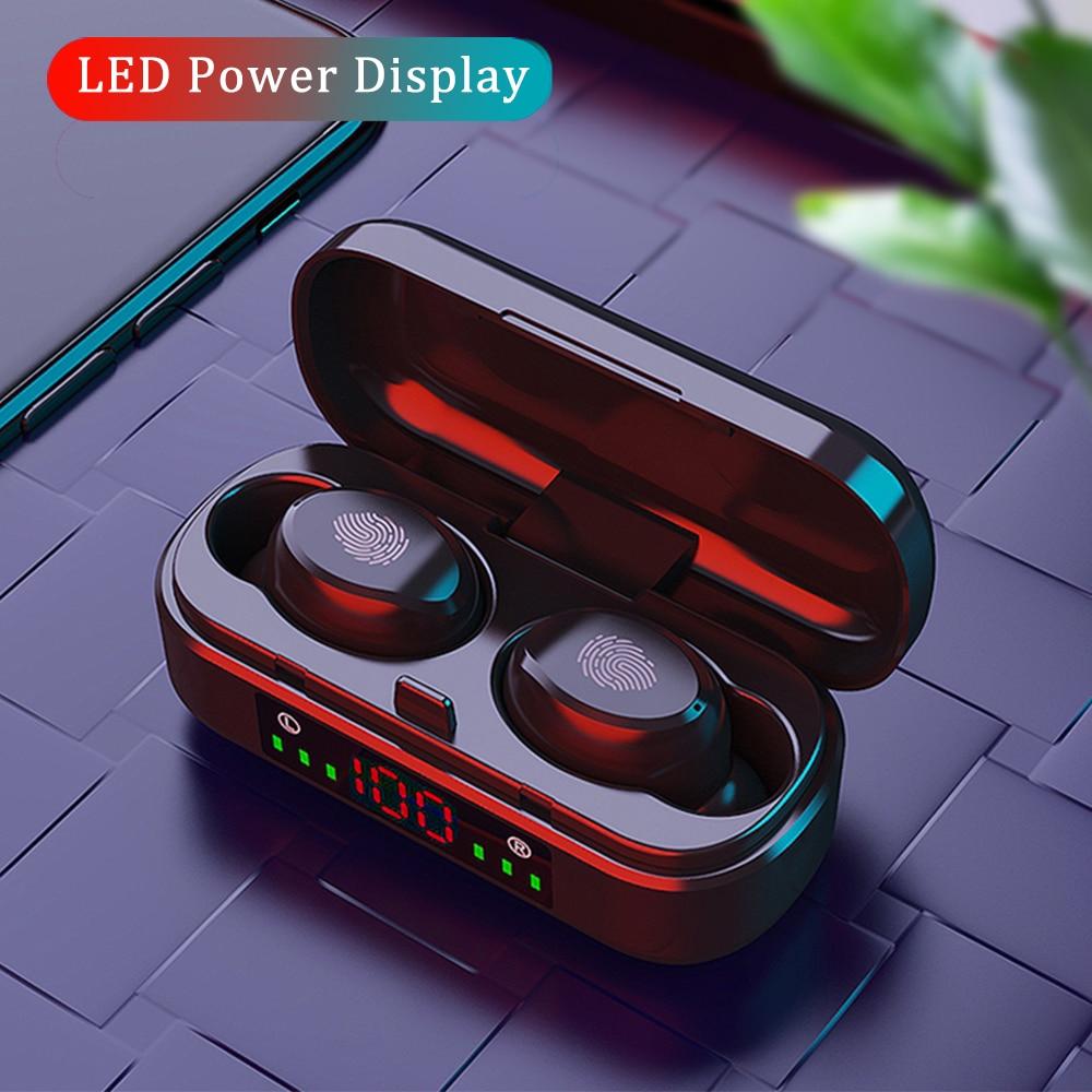 беспроводные Наушники tws bluetooth 5,0 с сенсорным управлением, беспроводные Bluetooth наушники с микрофоном, водонепроницаемые, с дисплеем, шумоподавлением, с микрофоном для Android