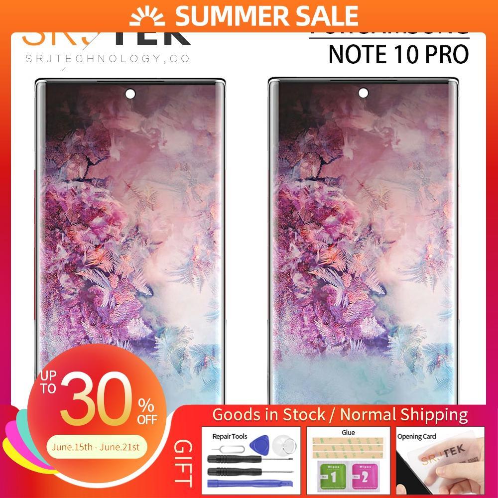 Pantalla AMOLED para Samsung Galaxy Note 10 LCD Touch digitalizador Sensor marco de montaje de cristal para pantalla Note10 para SM-N970F LCD