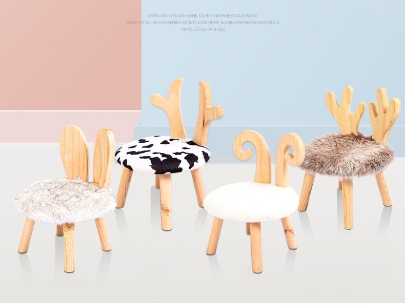 Детская скамейка из цельной древесины, маленькая скамейка с деревянной спинкой, маленькая скамейка для дома, Сменная обувь