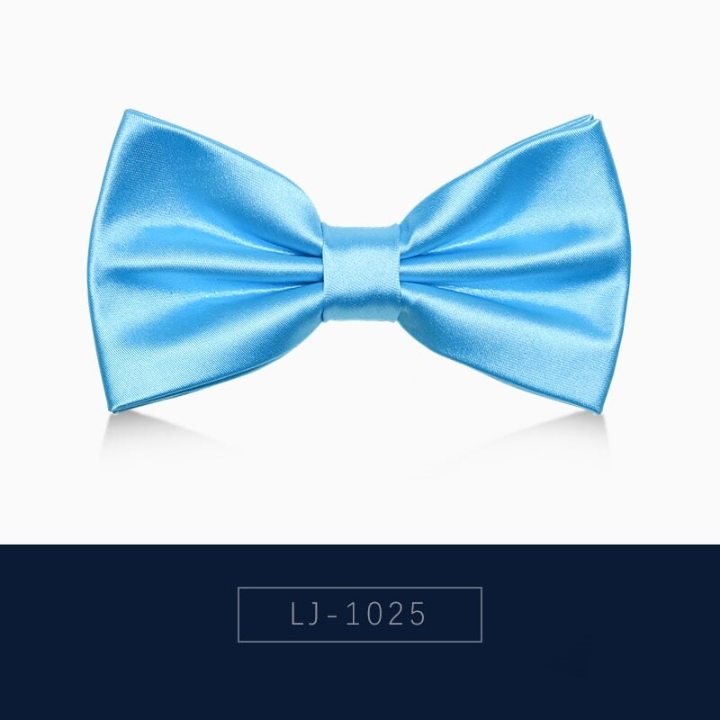 2020 Brand New Fashion Men's Bow Ties Double Fabric Solid Color Bowtie Banquet Wedding Bridegroom Butterfly Tie with Gift Box