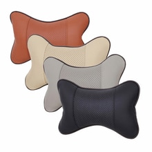 New Durable PVC Leather Breathable Cushion Car Headrest Cover Seat Neck Pillow Health Care Cushion