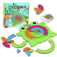 kids toy frog puzzle boxed frog jigsaw board game shape matching parent child interaction fine motor training educational toys