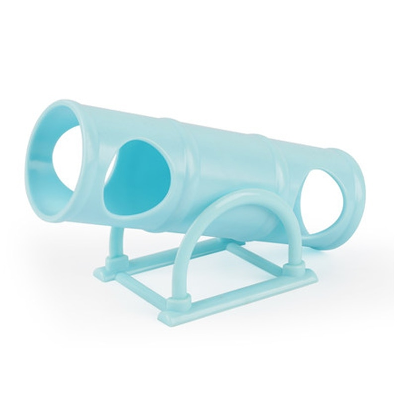 1PC Multiple holes Plastic Hamster Seesaw Tube Tunnel Cage House Small Pet Toy for Rabbit Rat Mouse Hamsters Funny Gift