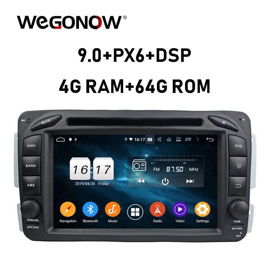 Android 9,0 4GB de RAM de 8 Core reproductor de DVD de coche Wifi Bluetooth 4,2 RDS RADIO GPS mapa para Benz W163 W209 W203 W170 W210 W168 1998-2005