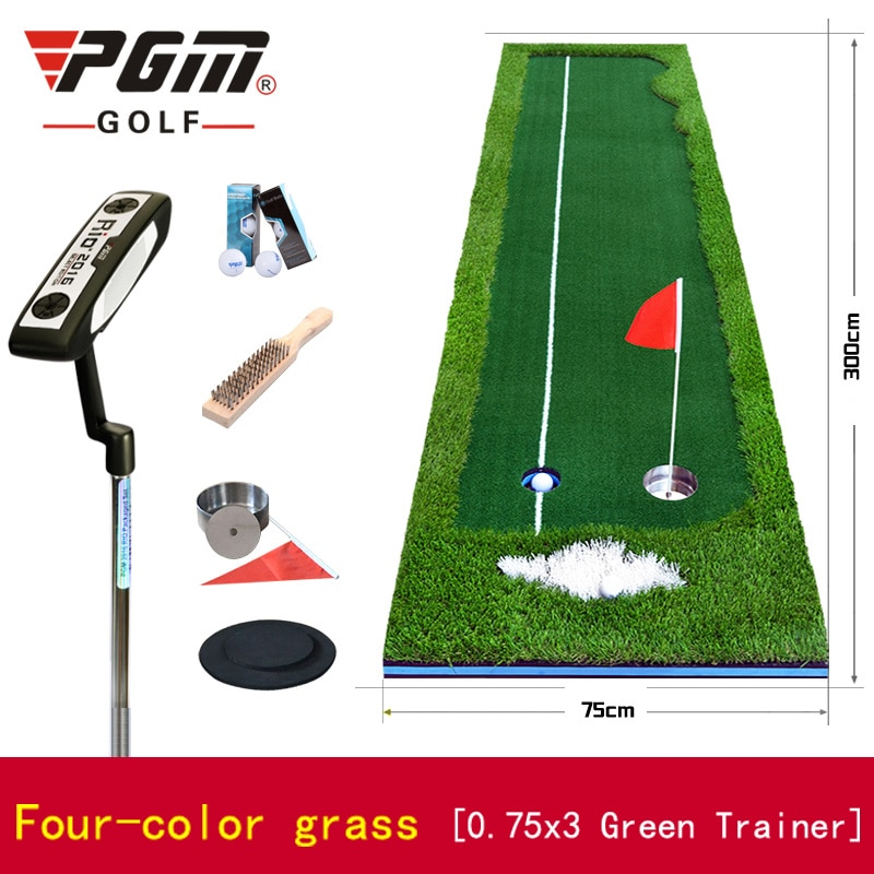 Send Clubs! PGM New Indoor Golf Putter Trainer Office Greens Fairway Practice Carpet