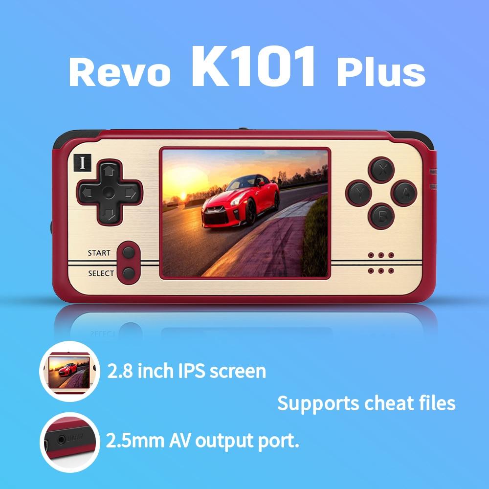 Open Source, retro game Revo K101 Plus retro handheld 64 bit video game player support TV connection