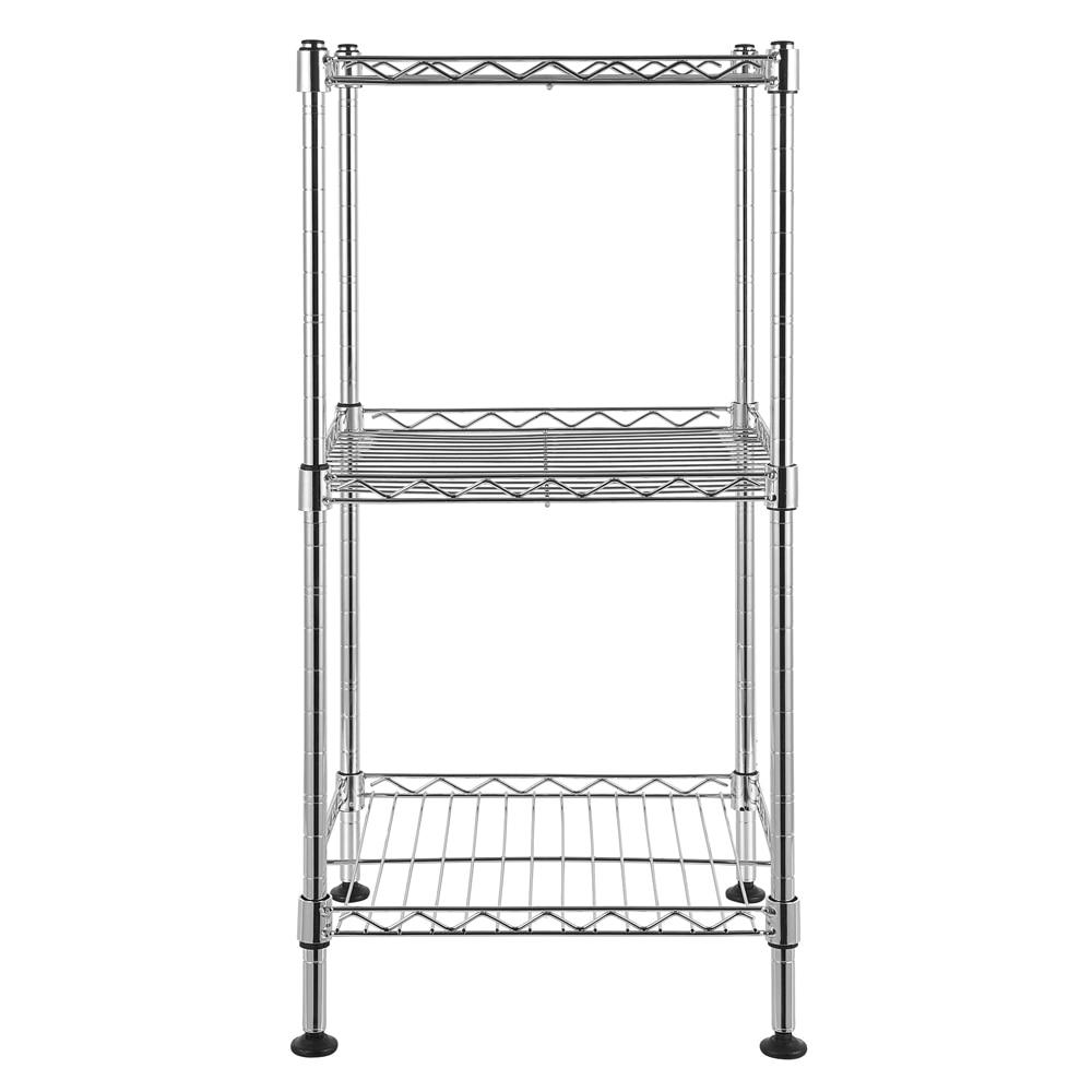 Купить с кэшбэком Fashion 3-Tier Steel Wire Shelving Tower Use for Bathroom Closet Bedroom Storage Rack Kitchen Shelf Spice Organizer