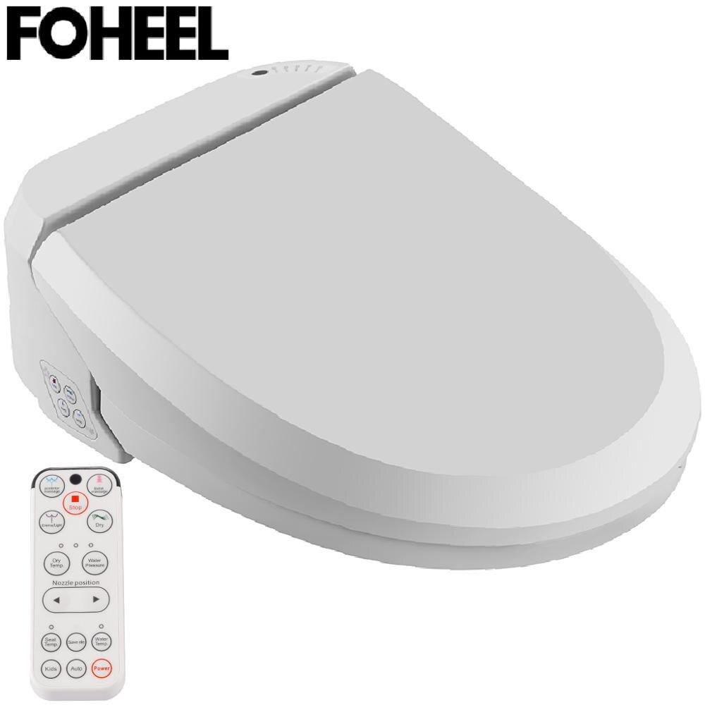FOHEEL-مقعد مرحاض ذكي ، غطاء بيديت ، مع التنظيف والتجفيف والتدليك الحراري ، للأطفال والنساء وكبار السن