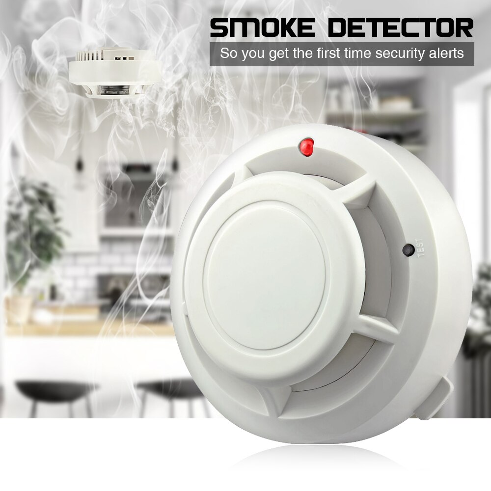 FUERS Smoke Detector Security Protection Fire Equipment Independent Smoke Sensor Intelligent High Sensitivity Low Battery Remind