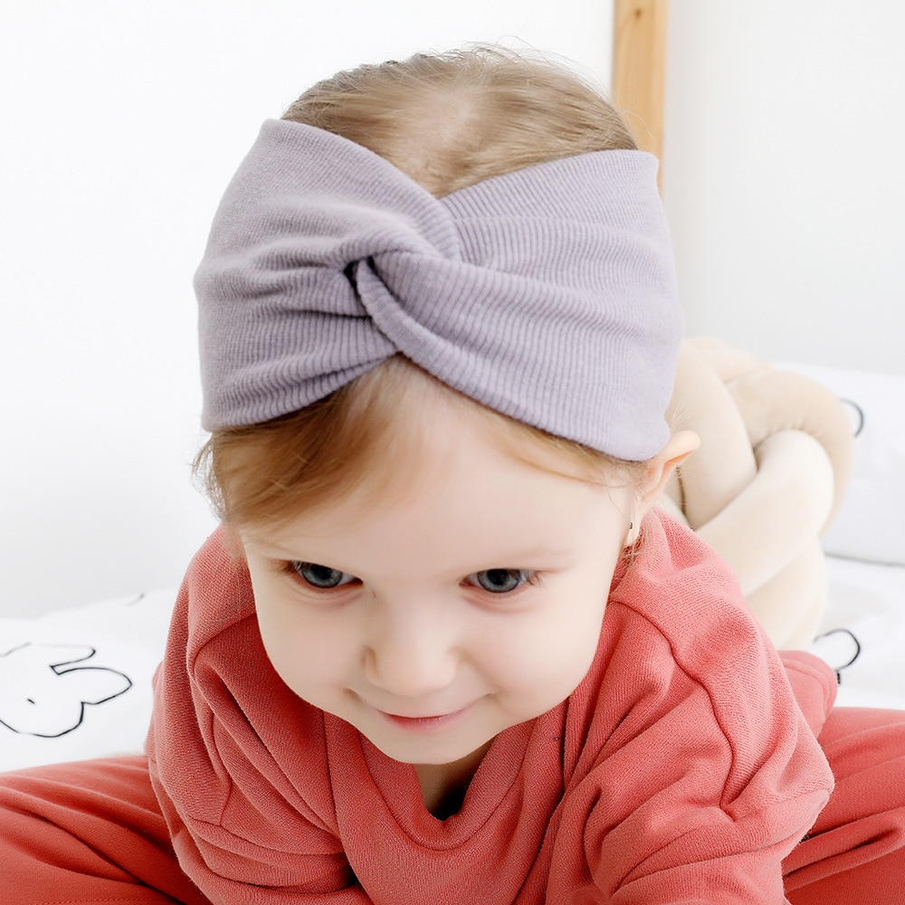 Solid Color Girls Winter Autumn Headband Twisted Knotted Soft Elastic Baby Girl turban twist headband Headwear