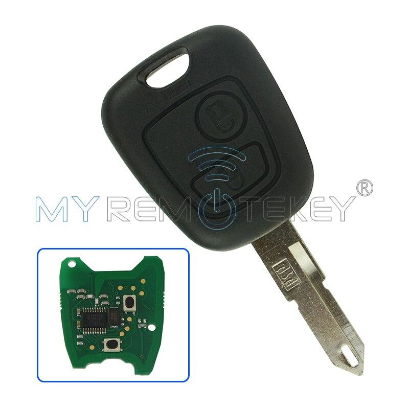 Дистанционный ключ 2 кнопки 434 МГц NE72 ID46 Электронный чип для Citroen Remtekey умный Автомобильный ключ дистанционный ключ