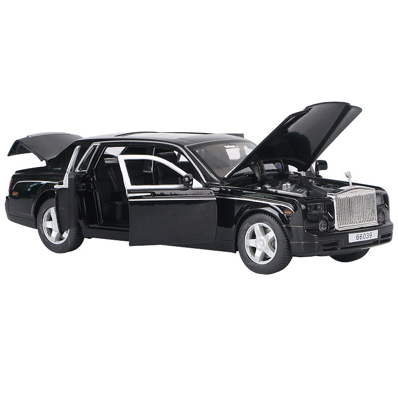 1:32 Scale Diecast Car Model Acousto-Optic Alloy Model Metal Toy Vehicle Sound Light Car Doors Open Pull Back For Kids Toy Gift недорого