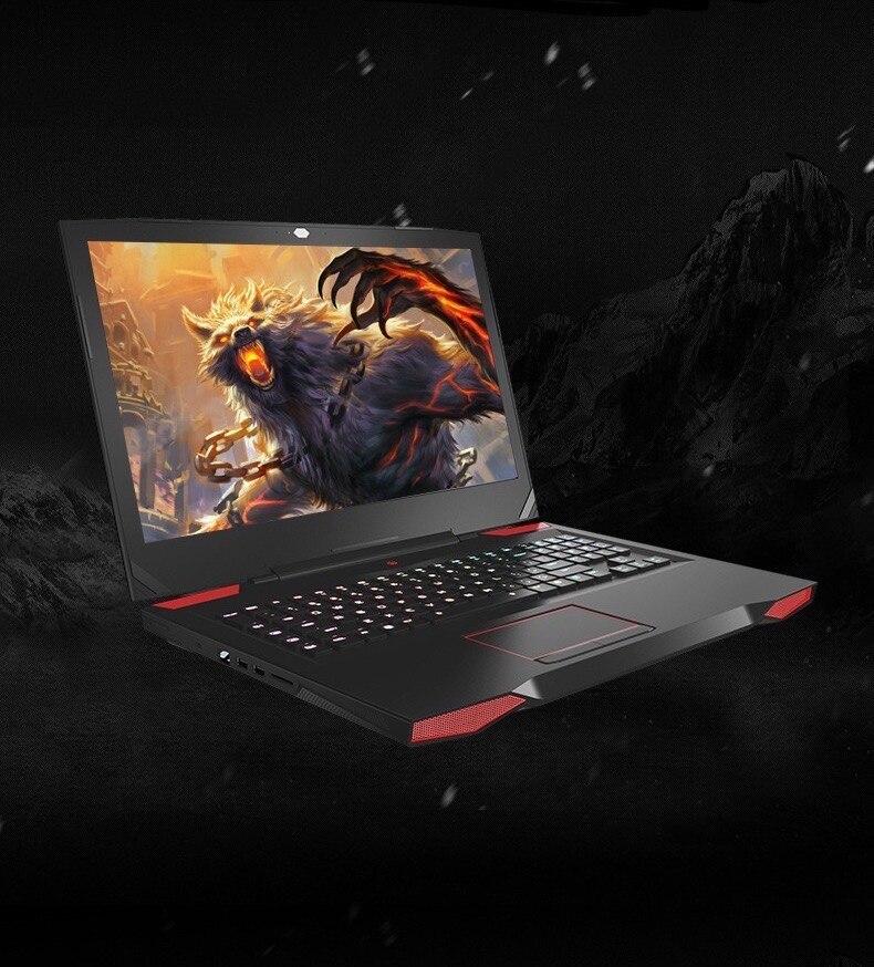17.3 inch DIY Gaming Laptop i7-7700HQ CPU GTX-1060 6G 8/16GB DDR4 RAM 128/256/512GB SSD EDP screen Mechanical keyboard