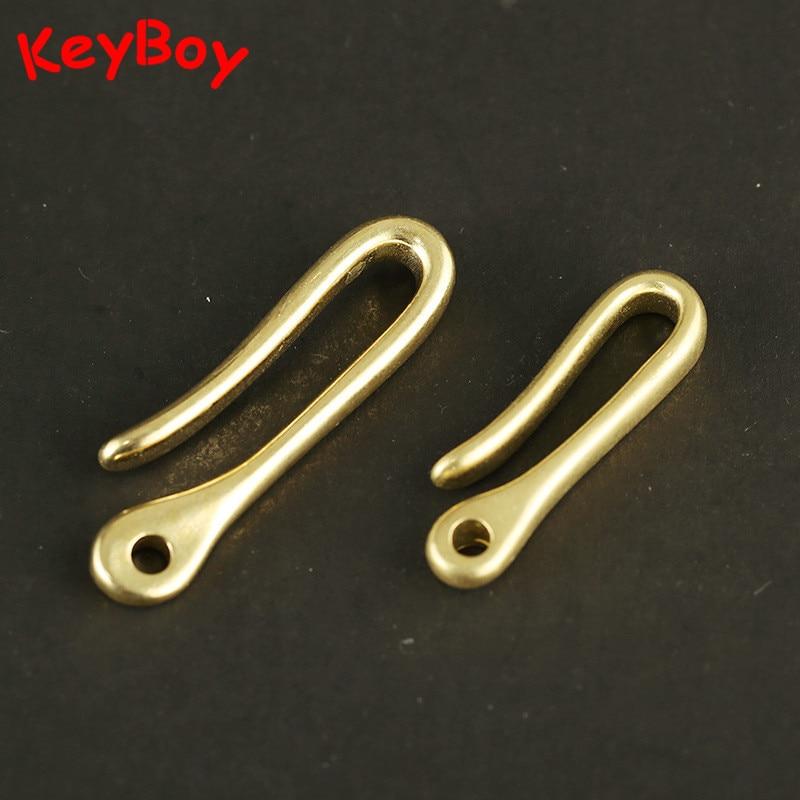 Brass Keychain Buckle Waist Belt Clip Fob Anti-lost Hook Men Car U-shape Key Chain Keyring Holder Vintage Copper DIY Accessories