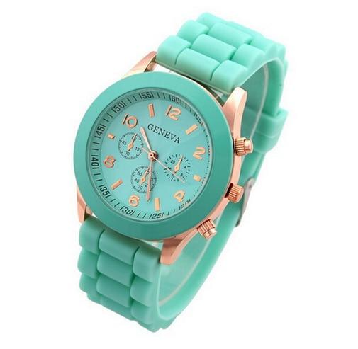 Rubber Hot Sales Geneva Brand Silicone Women Watch Ladies Fashion Dress Quartz Wristwatch Female Wat