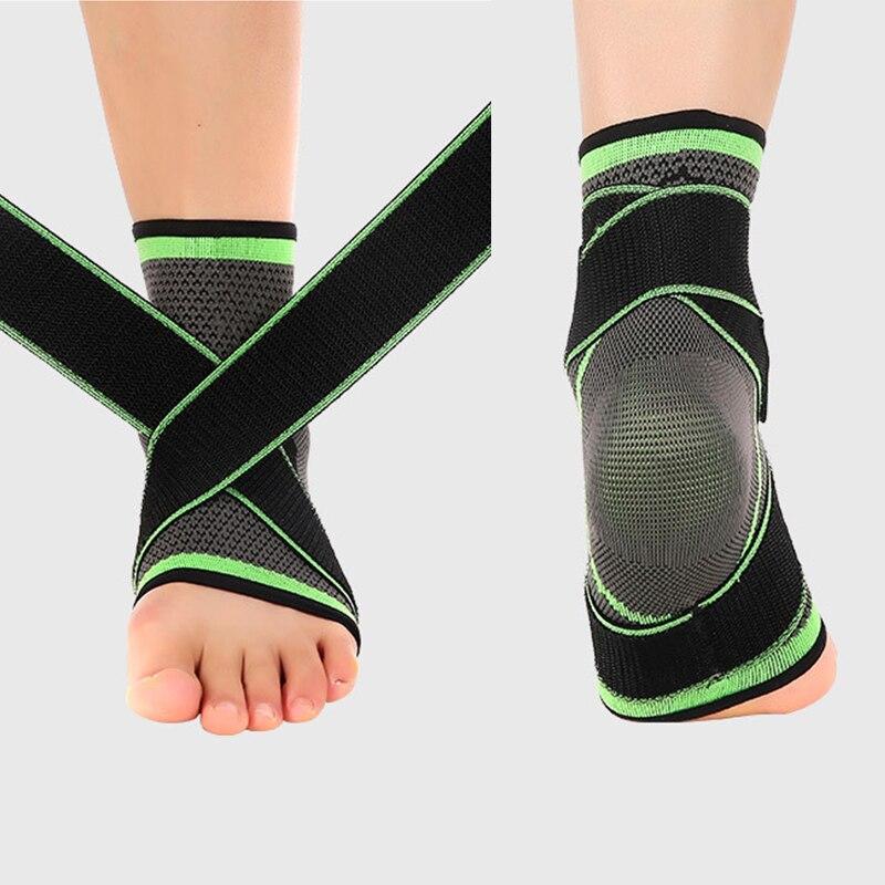 1 Uds 3D tejido elástico correa de Nylon tobillera soporte de bádminton baloncesto fútbol Taekwondo Protector de talón Fitness