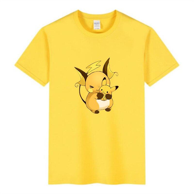 Baby Pokemon Pikachu Children T shirt Children Groot Cartoon Black White Fun Girl Cut Tshirt Childre
