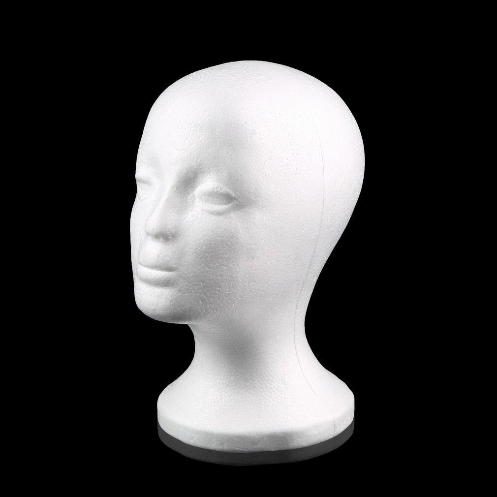 2017 Hot White Female Styrofoam Mannequin Manikin Head Model Foam Sponge Wig Hair Glasses Display Glasses Cap Display Stand