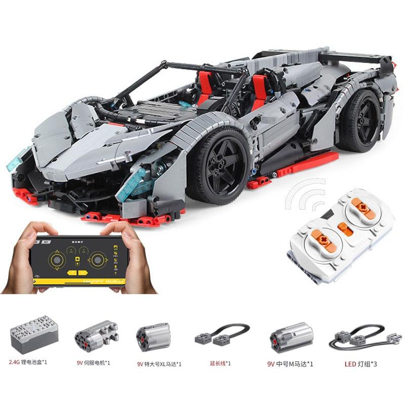 MOC 10559 RC Technic Car el Veneno Lamborghimis Roadster función de poder bloques de construcción de automóviles ladrillos niños juguetes para niños 1003