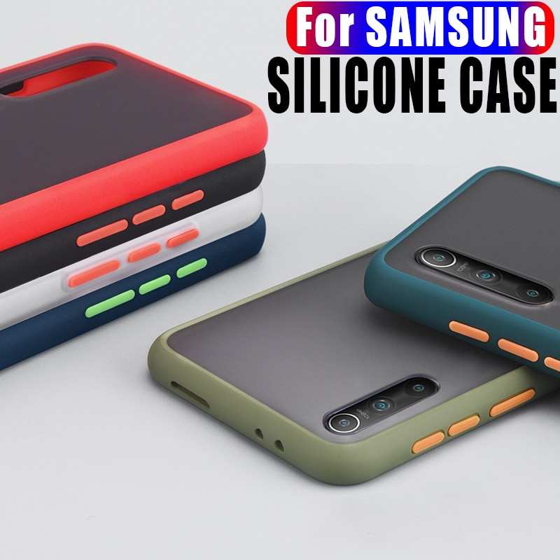 Simple Phone Case For Samsung Galaxy Note 8 9 10 20 S8 S9 S10 Plus S20 A51 A71 A7 A9 A10S A30 A40 A5
