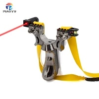 new resin double screw slingshot flat rubber band fast pressing design professional outdoor sports catapult with red laser