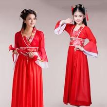 Adulte enfants traditionnel chinois vêtements pour filles Hanfu Cosplay chinois Han Fu fille tenue de fée femme Halloween dame robe
