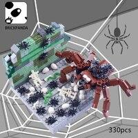 moc building blocks creative animal scene spider mystery nest model toys for kids gift