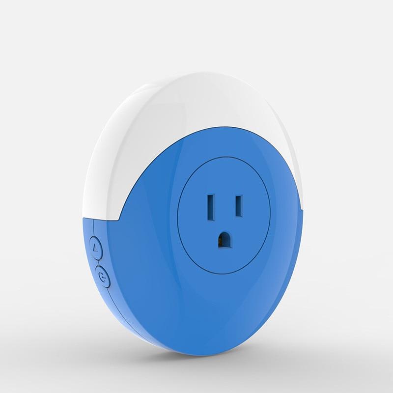 Inteligente WI-FI Sem Fio Tomada Plug EUA Para EUA Canadá Luz RGB Wi-fi Plugue Tomada 16A APP Controle Trabalhar Com Alexa inicial do Google IFTTT