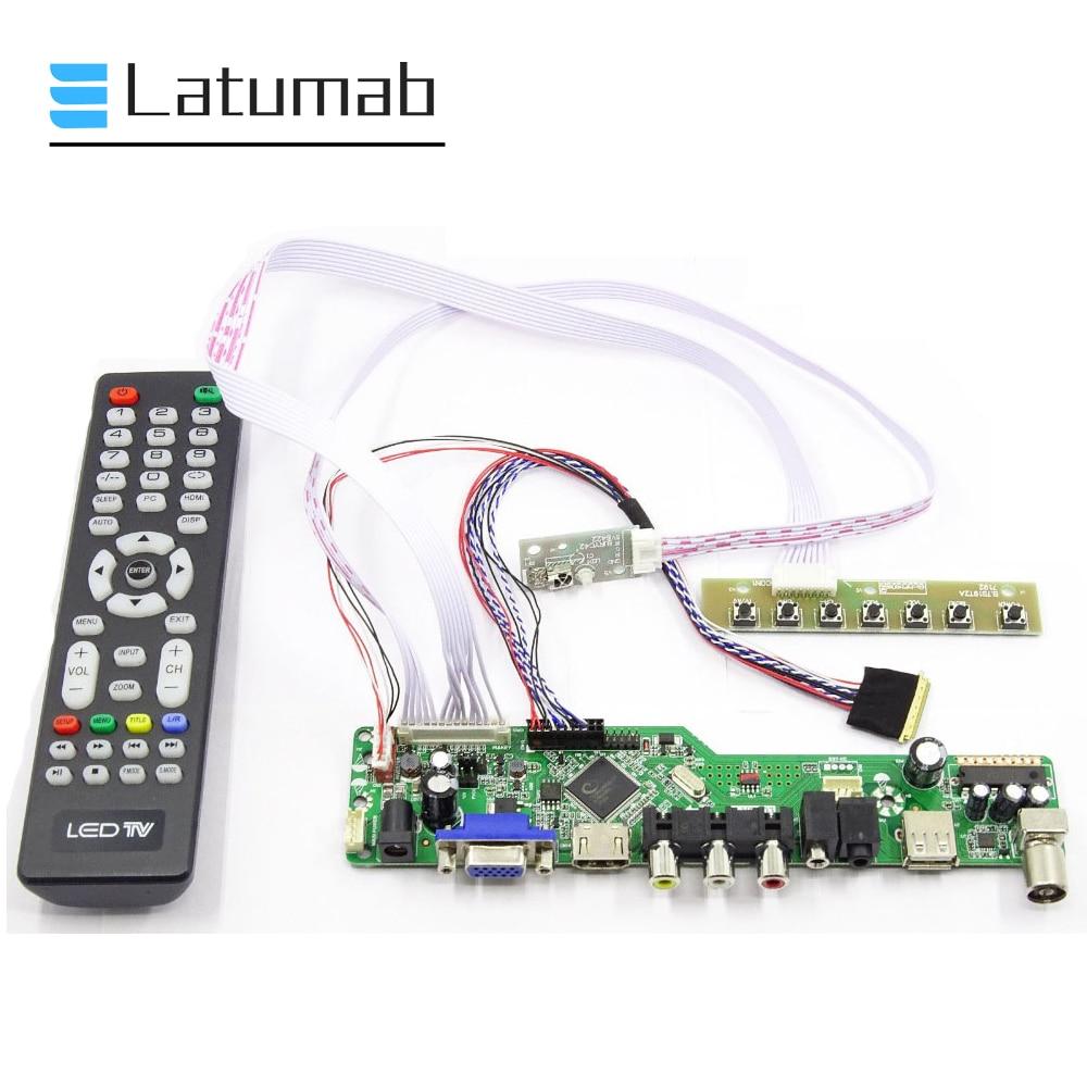 "Matriz latumab para LP156WH4-TLQ1 / LP156WH4-TLQ2 / LP156WH4-TLQ3 15.6 ""display lcd placa controlador 1366 × 768 tv + hdmi vga + usb"