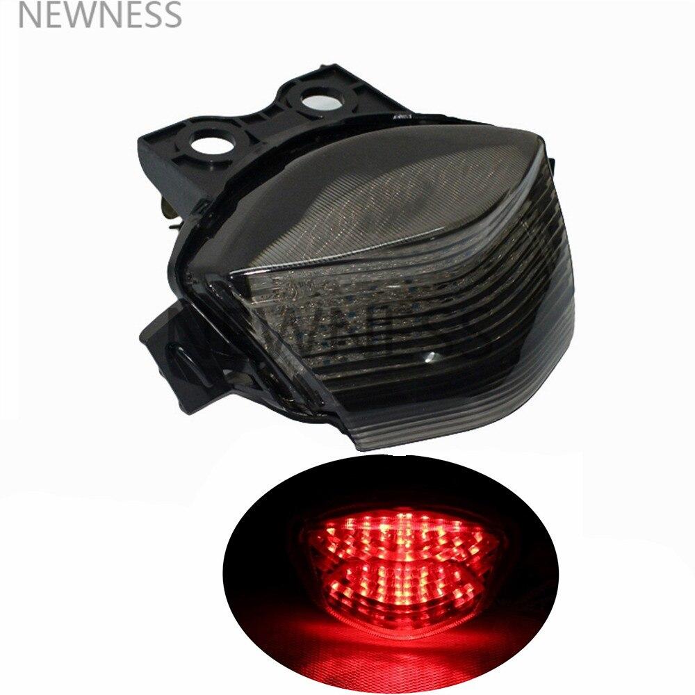 Luz trasera del freno del Motor intermitentes luz LED integrada motocicleta para Kawasaki Ninja 650R EX650 ER6N ER6F ZX650 2006-2008