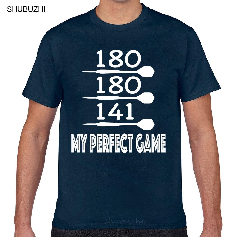 Топы, футболки для мужчин, идеальная игра Дротика en 180 9 Дротика er, Модная белая короткая мужская футболка, модная футболка, мужская хлопковая...