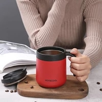 office thermos stainless steel coffee cup with double lid portable home mug simple creative insulation cup